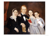 A Portrait of a Family, American School, Probably Massachusetts, circa 1820 Giclee Print