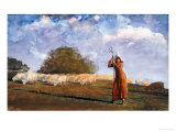 The Young Shepherdess, 1878 Posters by Winslow Homer
