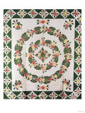 A Pieced and Appliqued Cotton Quilted Coverlet, South Carolina, Mid-19th Century Prints