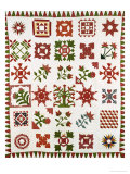 An Appliqued Cotton Album Quilt, circa 1852 Giclee Print by Francina Stout Van Dyke