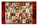 Pieced and Appliqued Contained Crazy Quilt, American, Late 19th Century Posters