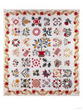 An Appliqued and Pieced Album Quilt, Maryland, Mid 19th Century Giclee Print