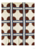 A Pieced Cotton Quilted Coverlet, circa 1860 Giclee Print
