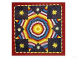 A Pieced and Appliqued Cotton Quilted Coverlet, Pennsylvania, 19th Century Giclee Print