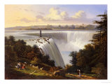 Niagara Falls Scene Giclee Print by Victor De Grailly