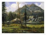 Sierra Nevada Mountains Giclée-tryk af Albert Bierstadt