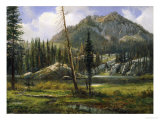 Sierra Nevada Mountains Premium Giclee Print by Albert Bierstadt