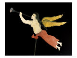 A Sheet Metal Angel Gabriel Weathervane, American, 19th Century Prints