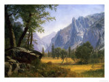Yosemite Valley Premium Giclee Print by Albert Bierstadt