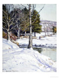 The Old Stone Wall Giclee Print by George Gardner Symons