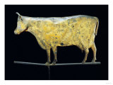 Molded and Gilded Copper Weathervane Depicting a Cow, American, 19th Century Posters