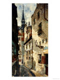 Rue Des Chartres, Old Paris, 1878 Giclee Print by Edwin Deakin
