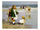 Play in the Surf Premium Giclee Print by Edward Henry Potthast
