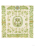 A Pieced and Appliqued Cotton and Embroidered Velvet Quilted Coverlet, New York, circa 1875 Giclee Print