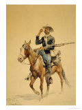 A Mounted Infantryman, 1890 Giclee Print by Frederic Sackrider Remington