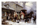 Home for Christmas, 1784 Poster by Jean Louis Gerome Ferris