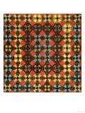 A Pieced Cotton and Flannel Coverlet, Pennsylvania, circa 1900 Giclee Print
