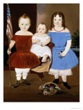 Portrait of Hattie Elizabeth, Ellis and Eva Flye, 1854 Giclee Print by William Matthew Prior