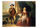 Mr. Robert Grafton and Mrs. Mary Partridge Wells Grafton, 1773 Giclee Print by Benjamin West