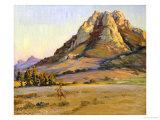 Castle Crags, San Luis Obispo, 1924 Giclee Print by Arthur Merton Hazard