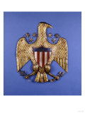 A Gilded Pressed Tin Eagle, American, 20th Century Prints