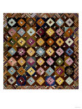 A Pieced Silk Coverlet Pennsylvania, C 1890 Giclee Print