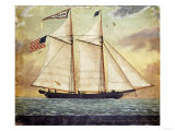 The Schooner Whig, American School, Mid 19th Century Print