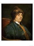 Portrait of Benjamin Franklin (1706-1790) Giclée-tryk af John Baptiste Lienard