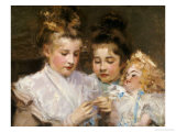 Berthe and Marjorie with Their Doll Giclee Print by Frederic William Macmonnies