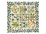 A Pieced and Appliqued Cotton Album Crib Quilt, American, circa 19th Century Giclee Print