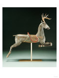 A Rare Painted and Carved Carousel Deer, American, 19th Century Prints