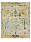 Silk-On-Linen Needlework Sampler, Dated 1764 Giclée-tryk af Mary Emmes