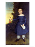 Portrait of Miss Annis Griffen, 1846 Giclee Print by Joseph Goodhue Chandler