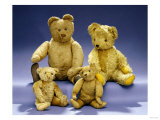 Collection of Teddy Bears Giclee Print