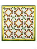 A Pieced and Appliqued Cotton Quilted Coverlet, North Carolina, circa 1850 Giclee Print