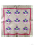 An Amish Pieced and Appliqued Cotton Quilted Coverlet, circa 1930 Giclee Print