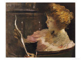 Jesse Steele Reading Giclee Print by John White Alexander