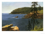 California Coast Print by Albert Bierstadt