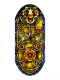A Leaded Glass Window of Geometric Design Giclee Print by Tiffany Studios 
