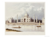 The Taj Mahal, Tomb of the Emperor Shah Jehan and His Queen, circa 1824 Art by Charles Ramus Forrest