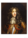 Portrait of James, Duke of York (1633-1701) as Lord High Admiral, Later King James II of England Giclee Print by Henry Gascars