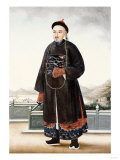 An Elegantly Dressed Chinese Hong Merchant, Chinese School, 19th Centur Print
