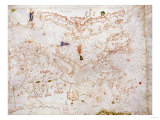 A Portolan Chart of Europe, circa 1500 Print