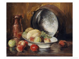 Still Life with Fruit and Copper Pot Giclee Print by William Merritt Chase