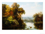 Indian Summer, 1855 Premium Giclee Print by Regis Francois Gignoux