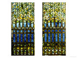 Two Leaded and Plated Glass Windows, circa 1910 Giclee Print by  Tiffany Studios