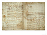 The Codex Hammer Pages 48-51 Giclee Print by  Leonardo da Vinci
