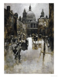 West Front of St. Paul's from Ludgate Hill Giclee Print by Joseph Pennell