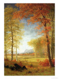 Autumn in America, Oneida County, New York Premium Giclee Print by Albert Bierstadt
