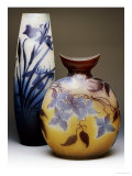 Two Galle Double-Overlay Acid-Etched Vases Giclée-tryk af Émile Gallé